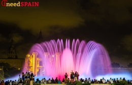 Montjuïc fountains in Barcelona, Spain